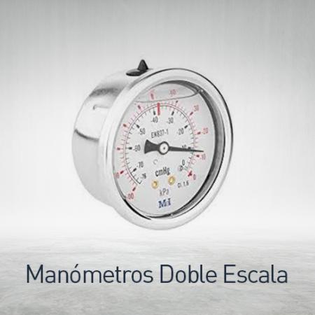 Manómetros doble escala