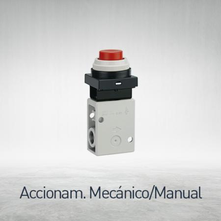 Válvulas accionamiento mecánico / manual