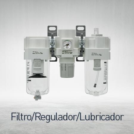 Combinaciones filtro / regulador / lubricador