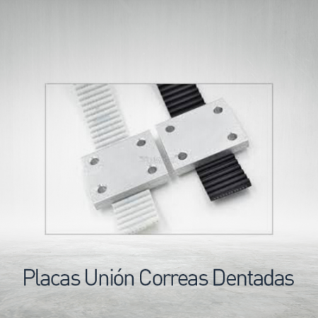 Placas de unión para correa dentada
